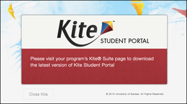 Ensure you are using the latest version of Kite Suite.