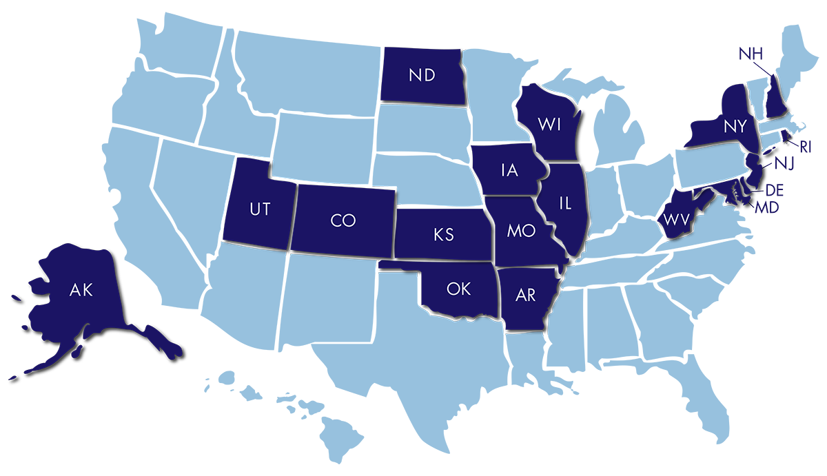 map of DLM states